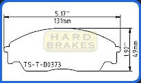D373 Titanium Shim Plate for Honda Civic, CRX Si