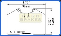 D608 Titanium Brake Shims for Ferrari, Porsche, Maserati