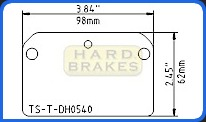 DH540 Titanium Brake Backing Plate for Wilwood Dynalite Caliper