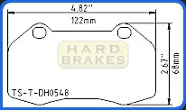DH548 Titanium Brake Backing Plate for Chevrolet Cobalt SS Brembo