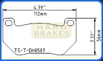 DH587 Titanium Brake Backing Plate for AP Racing CP7600 Caliper
