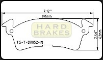 Titanium Brake Backing Plate for GM Intermediate Stock Cars.