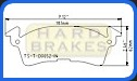 D52 Titanium Alloy Brake Heat Shields for Standard GM Intermediate, Stock Cars