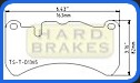D1365 Titanium Brake Shim Backing Plates for Lexus IS-F, Mercedes CLK55 AMG, CLK 63 AMG, SLK55 AMG