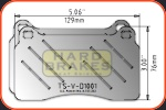 D1001 Ventilated Titanium Brake Shims for CTS-V, Mitsubishi Evo, Subaru STi, Volvo R, ...