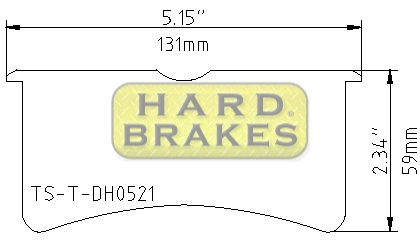 DH521 Titanium Brake Backing Plate for Wilwood Superlite 4/6 - Click Image to Close