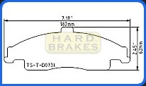 D731 Titanium Brake Heat Shield for C5 Corvette and C5 C6 Corvette Z06