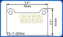 D960 Titanium Brake Backing Shim BMW, Infiniti G35, Nissan 350Z, Skyline, Sentra