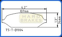 D1004 Titanium Brake Heat Shielding Shim for Subaru WRX