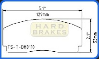 DH110 Titanium Brake Backing Plate for AP Racing Calipers