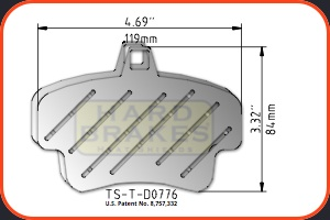 D776 Ventilated Titanium Heat Shields for Brakes on Porsche Cayman S, Boxster S, 911, 996, 997