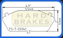 D341 Titanium Brake Shim Acura Integra, Legend, Honda Accord, Prelude, Civic