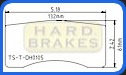 DH105 Titanium Brake Heat Shields for Alcon, Brembo, Coleman, Wilwood Racing Calipers